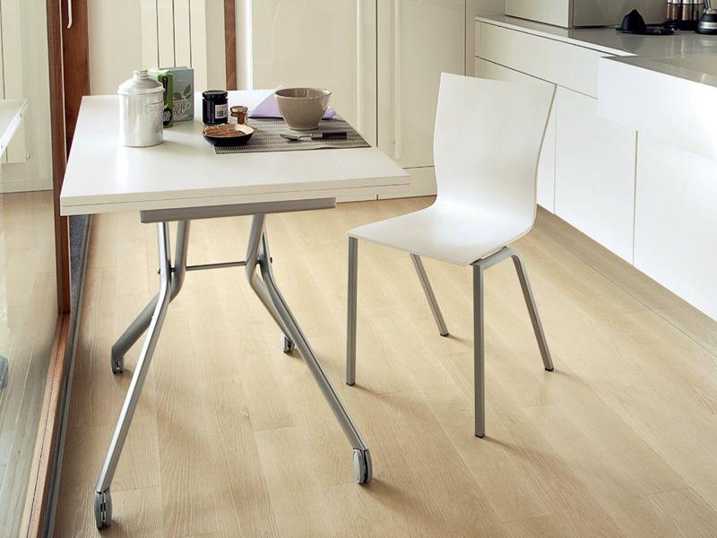 esprit table domitalia en m tal avec plateau en m lamin. Black Bedroom Furniture Sets. Home Design Ideas