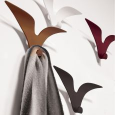 Jonathan - Wall coat-stand hook in varnished steel, available in several colours