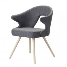You 2803 - Wooden armchair, padded seat and backrest, available in different colours
