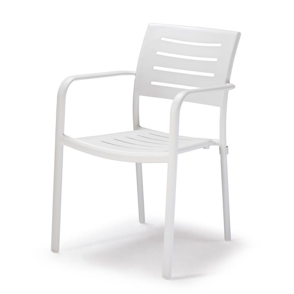 tt931 chaise avec accoudoirs en aluminium empilable pour le jardin sediarreda. Black Bedroom Furniture Sets. Home Design Ideas