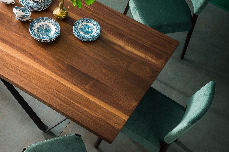 Apollodoro tavolo di design fisso 100x200 cm con for Tavolo di design in metallo