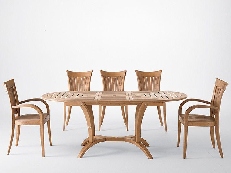 Eclypse O: Table de jardin en bois de robinier, 160x97 cm, à ...