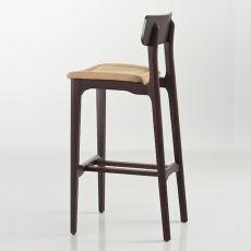 Cacao Soft SG - Gabello di design Chairs&More, in legno con seduta imbottita, disponibile in diversi colori, altezza seduta 65 o 80 cm