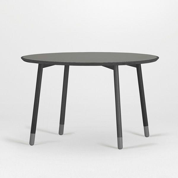 stick t table fixe valsecchi en bois avec plateau en stratifi rond ou carr en diff rentes. Black Bedroom Furniture Sets. Home Design Ideas