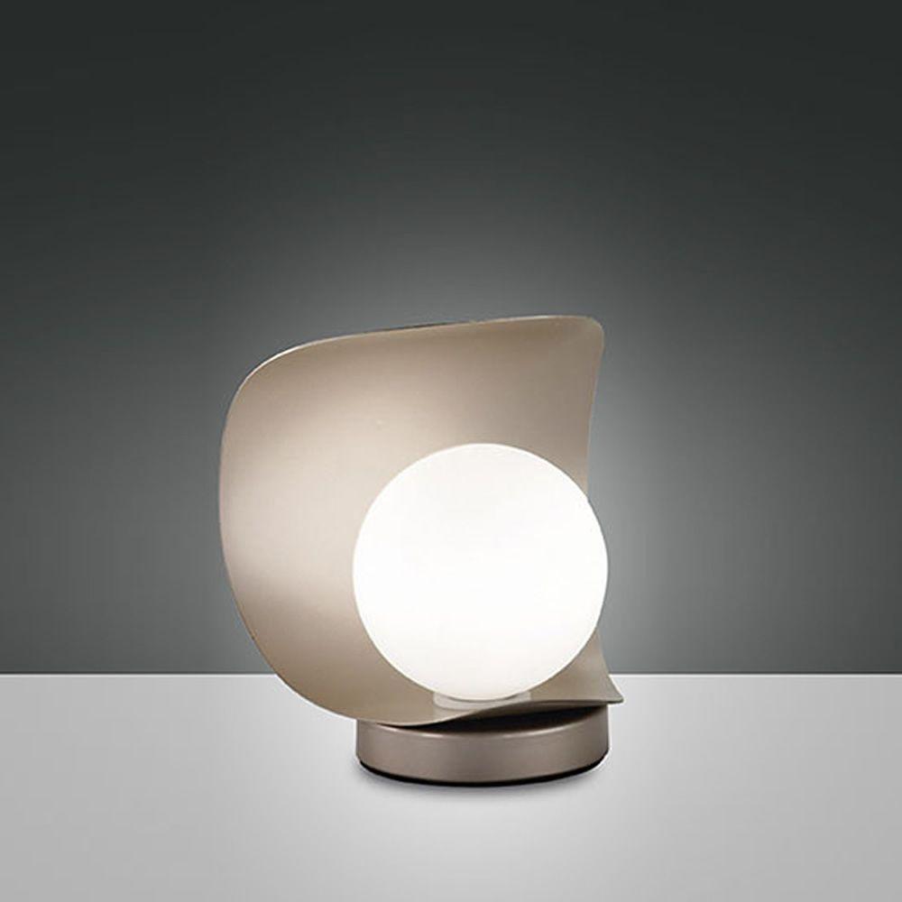 fa3414dt tischlampe aus metall und geblasenem glas mit. Black Bedroom Furniture Sets. Home Design Ideas