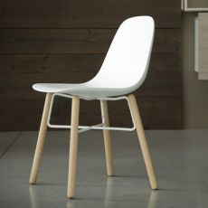 Babah Wood - Chair Chairs&More, in wood and polyurethane, available in different colours