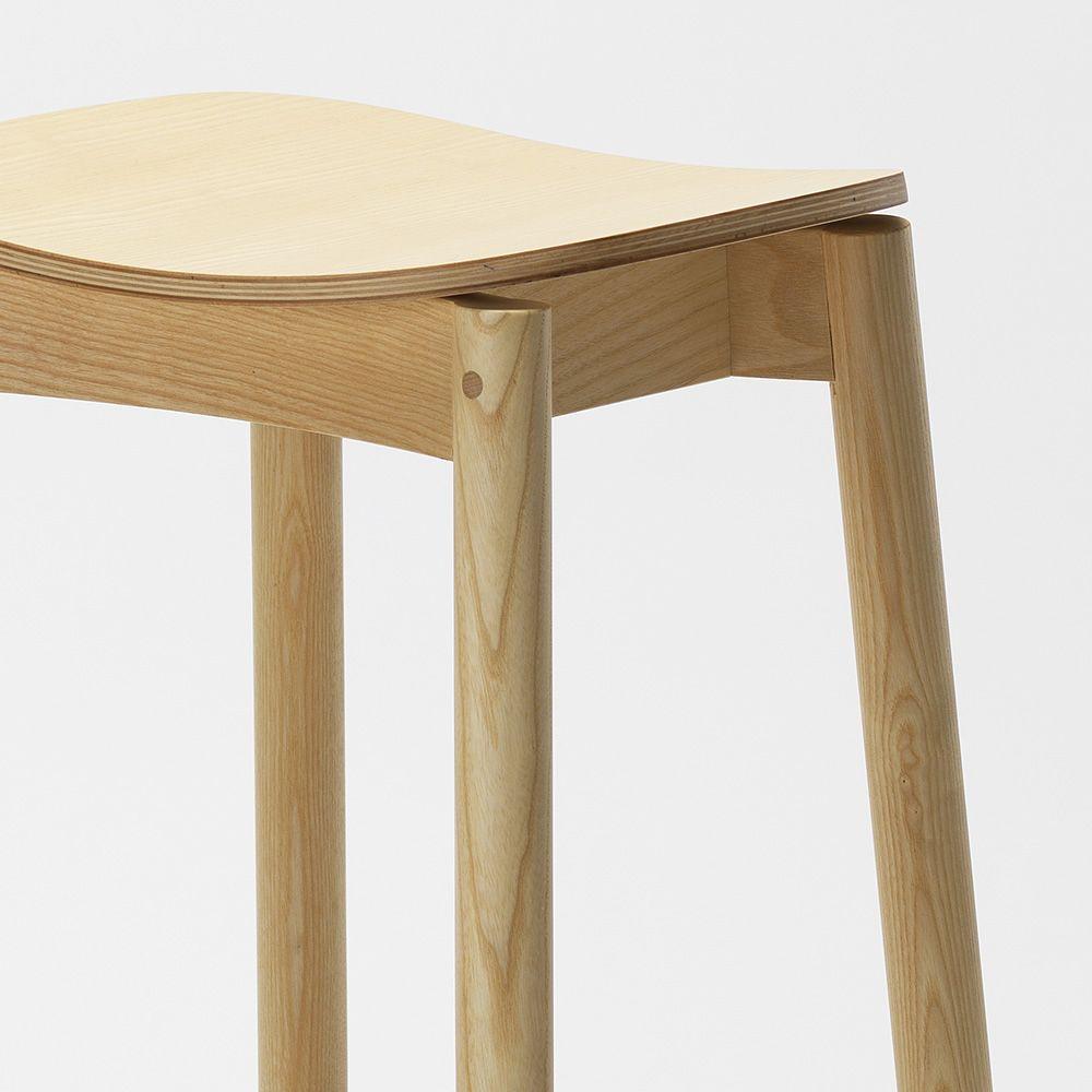 nico stool v2 hoher hocker aus eschenholz in. Black Bedroom Furniture Sets. Home Design Ideas