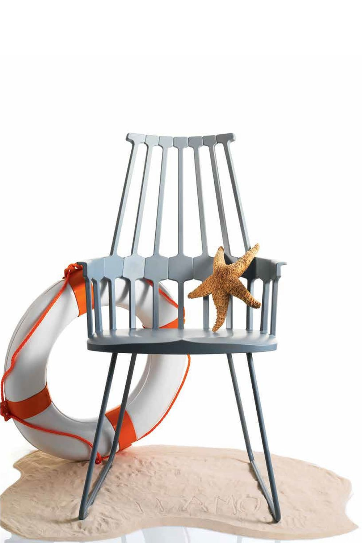 Comback 5950 sedia kartell di design struttura a slitta for Sedie design kartell