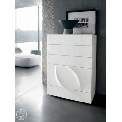 leaves 8547 hohe kommode tonin casa aus lackiertem mdf. Black Bedroom Furniture Sets. Home Design Ideas