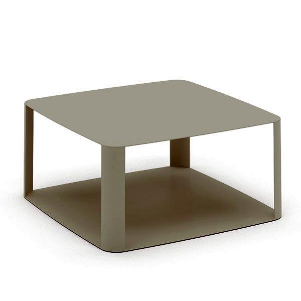Offset2 promo tavolo di design in metallo disponibile - Color fango abbinamenti ...
