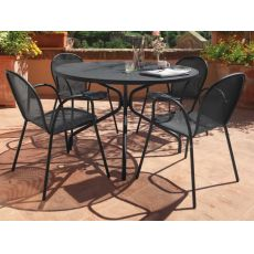 Cambi R - Emu table made of metal, for garden, round top in several sizes
