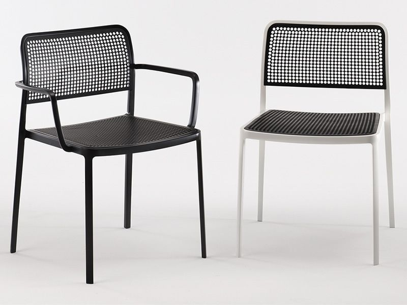 Audrey silla kartell de dise o en aluminio y pl stico for Sillas plastico diseno