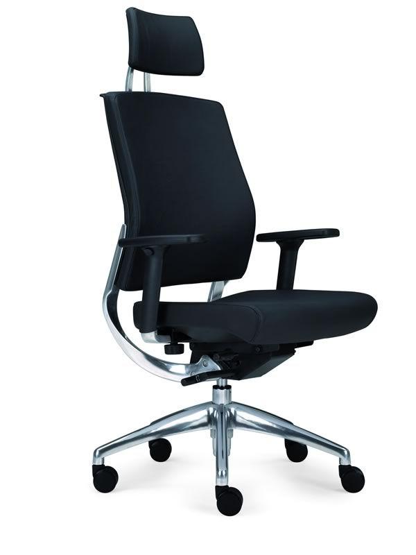 Ml450 sedia da ufficio con poggiatesta in similpelle for Poltrone x ufficio
