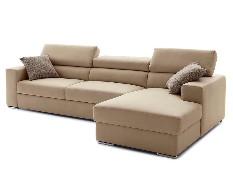 College a divano a 2 o 3 posti con chaise longue poggiatesta reclinabili sediarreda - Divano 4 posti con chaise longue ...