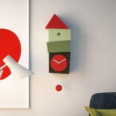 Crooked - Orologio a cucù da parete in legno, con pendolo, diversi colori disponibili