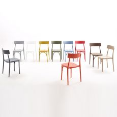 Milano 2015 PP - Stackable chair by Colico, in polypropylene, several colours available, also for outdoor