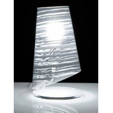 Pixi DT - Modern table lamp in polycarbonate, decorated lampshade available in several colours