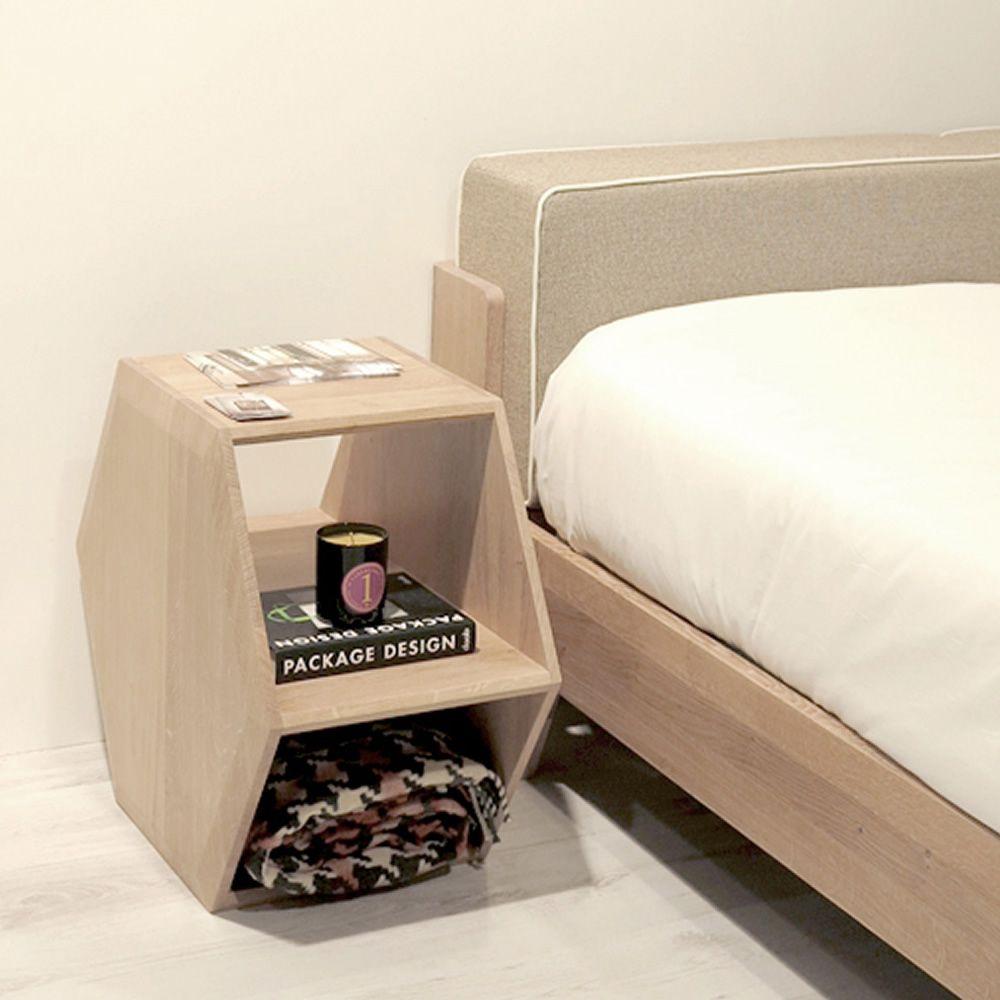 hexa designer beistell oder nachttisch aus holz aus. Black Bedroom Furniture Sets. Home Design Ideas
