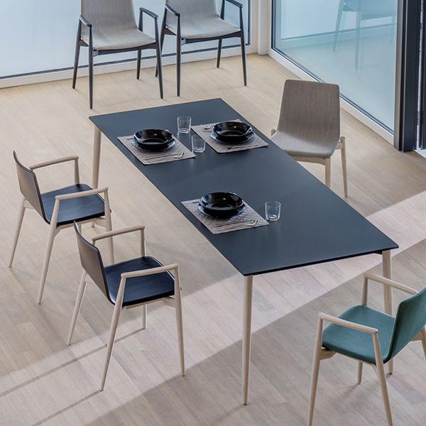 Malm table tavolo pedrali moderno in legno 190x90 cm for Table 6 in as 3725