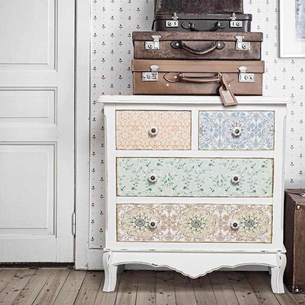 falesia 2c 2c commode shabby chic en bois avec 4 tiroirs sediarreda. Black Bedroom Furniture Sets. Home Design Ideas