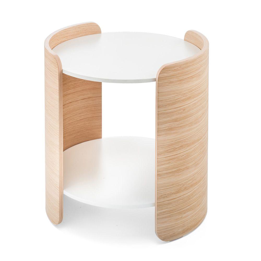 parenthesis mesita de design en madera de roble h cms