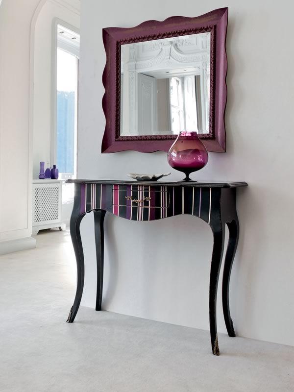Crile decor 1454 console classique tonin casa en bois for Console avec miroir pour entree