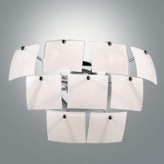 FA2981P - Moderna lampada da parete in metallo e vetro
