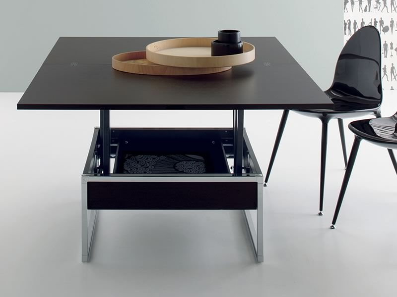 didone r petite table transformable en table manger 76 152 x 120 cm hauteur 41 74 cm. Black Bedroom Furniture Sets. Home Design Ideas