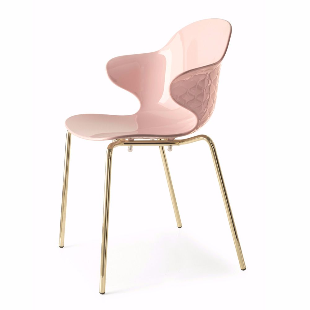 Cs1845 Saint Tropez Bar Chair With Armrests In Metal With