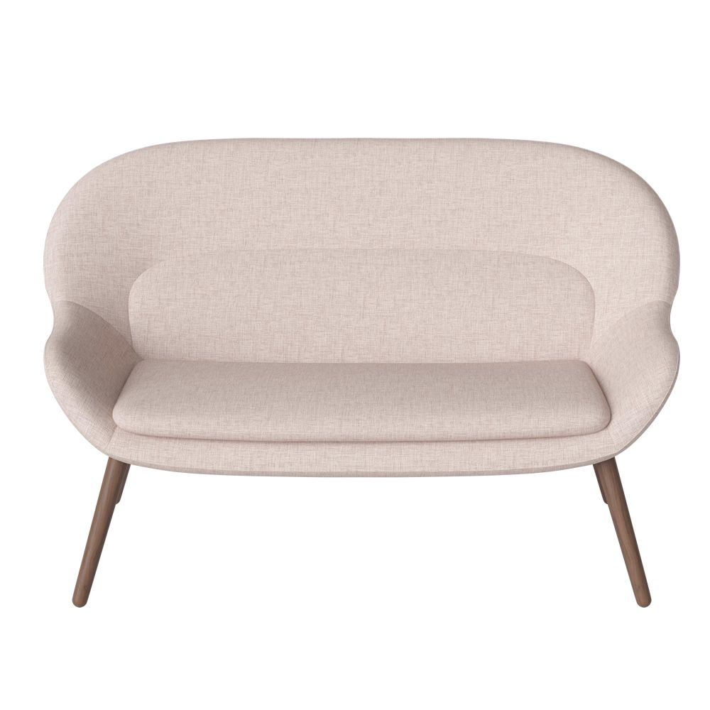 ... Philippa   Sofa With Legs In Walnut Wood And Fabric Covering In Nantes  Ivory Colour ...