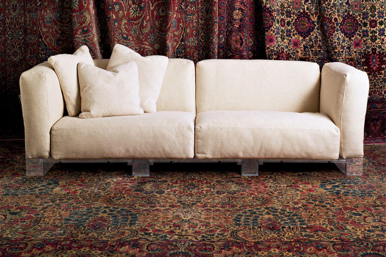 Pop duo sofa divano di design kartell 3 posti con - Rivestimento divano poltrone sofa ...
