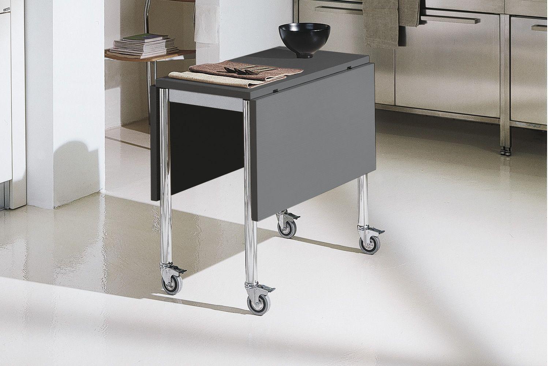 flash free verwandelbarer tisch bontempi casa klappbar und mit rollen aus metall und mit. Black Bedroom Furniture Sets. Home Design Ideas