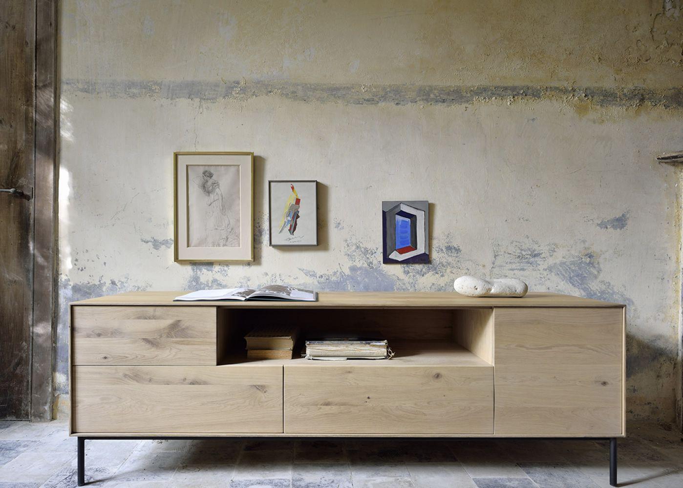 Free birdtv mobile porta tv in legno di rovere tinta - Mobili in rovere naturale ...