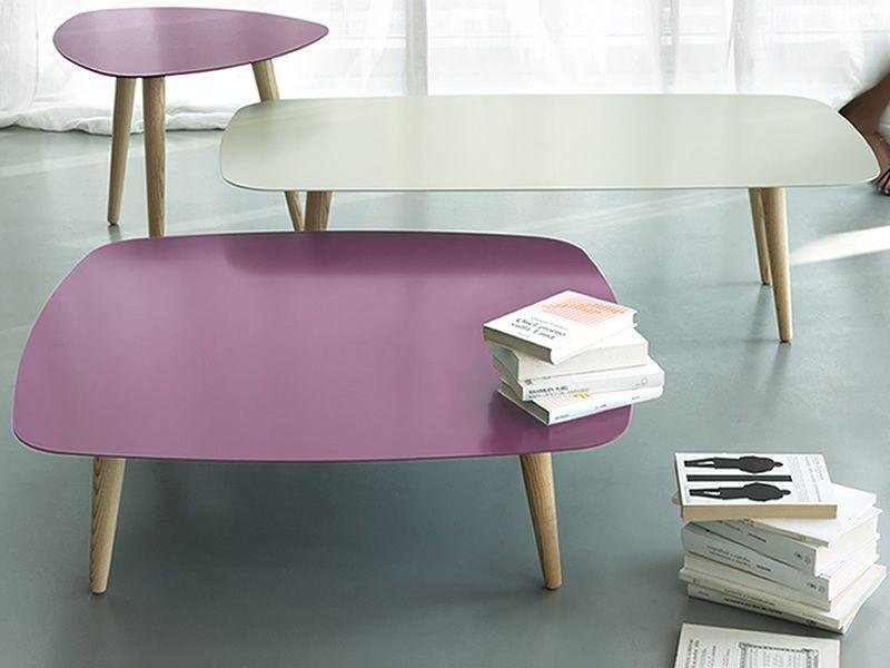 nord2 table design en bois avec plateau en m tal rectangulaire ou carr disponible en. Black Bedroom Furniture Sets. Home Design Ideas