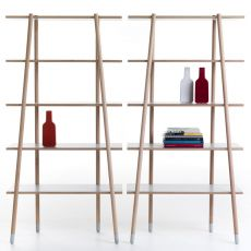 Stick-L - Valsecchi bookshelf made of wood with laminate shelves, different finishes available