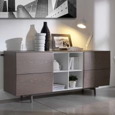 Amsterdam 15.16 - Contemporary sideboard Bontempi Casa, in wood, with doors or drawers, available in various dimensions, finishes and colours