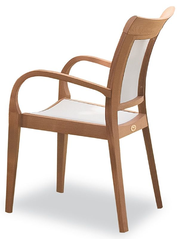 mirage bt fauteuil de jardin en bois robinier et textilene blanc. Black Bedroom Furniture Sets. Home Design Ideas