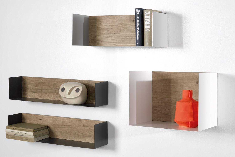 U mensola a parete universo positivo in legno e metallo - Parete di legno ...