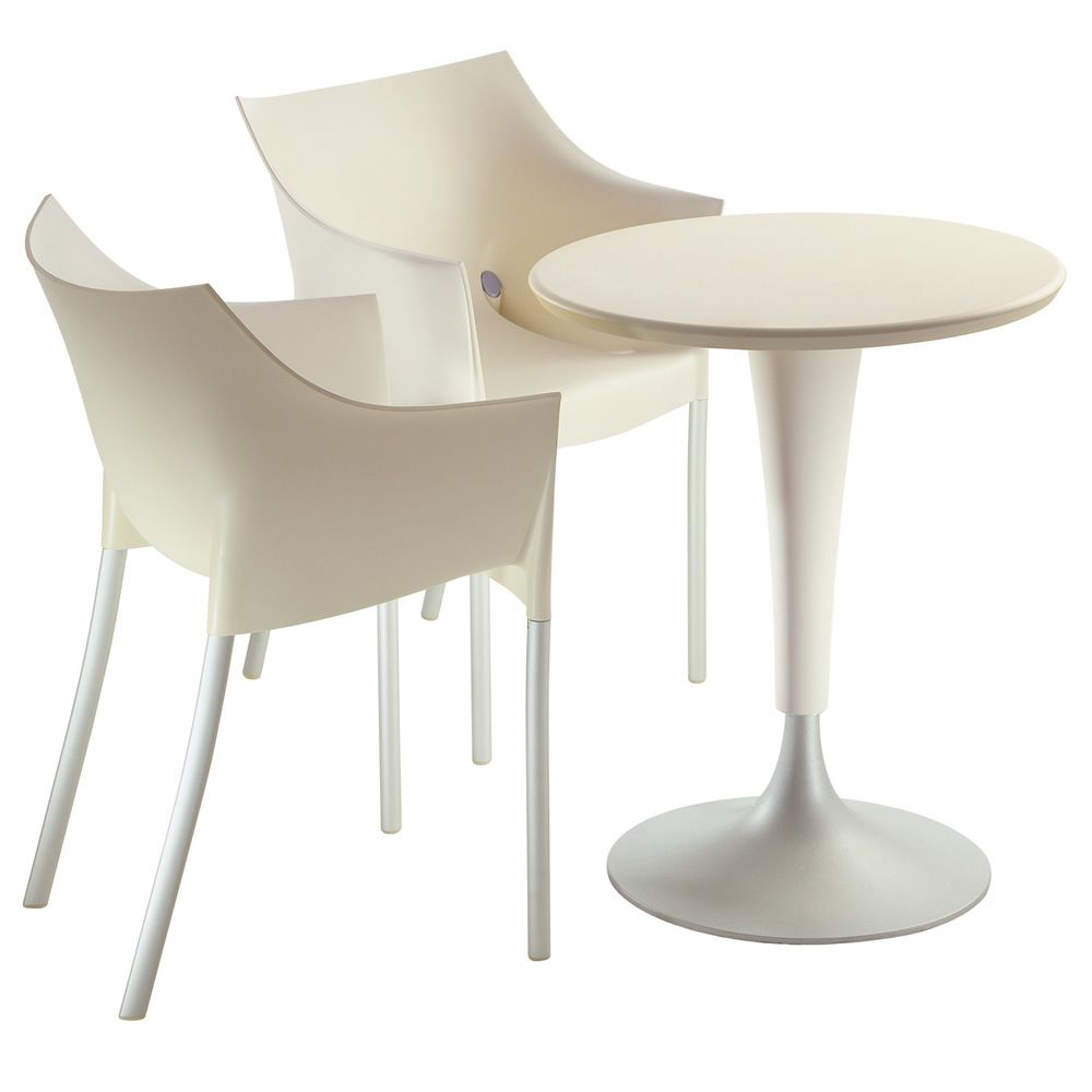 Dr no design kartell chair in aluminum and plastic for Kartell plastic chair