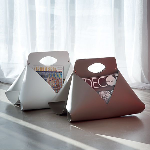 handy porte revues domitalia en cuir r g n r diff rentes couleurs sediarreda. Black Bedroom Furniture Sets. Home Design Ideas