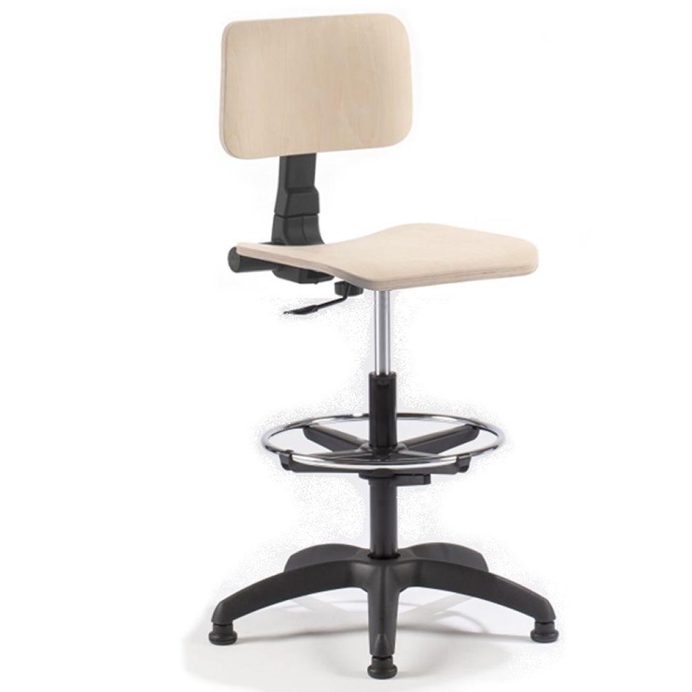 Ml349 st sgabello operativo da ufficio con sedile in for Sgabelli per ufficio