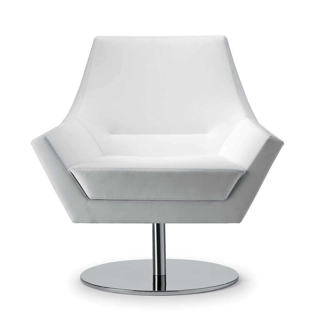 fly too fauteuil design de tonon structure en acier pivotant en cuir ou tissu disponible. Black Bedroom Furniture Sets. Home Design Ideas