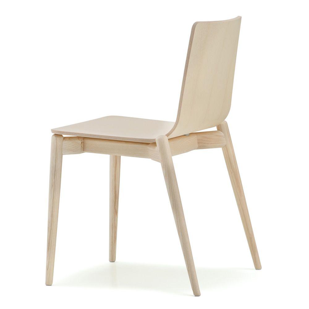 Malm 390 sedia pedrali di design in legno di frassino for Sedia di design