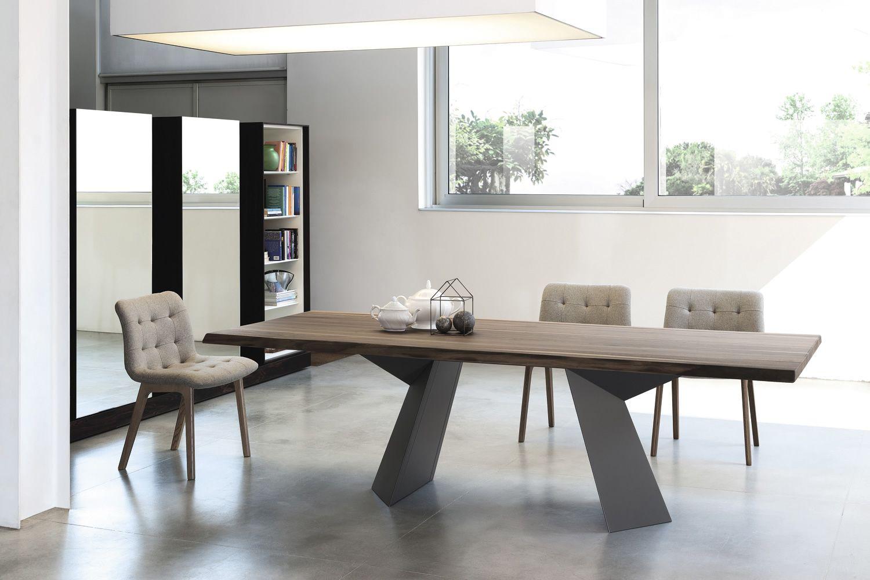 Fiandre tavolo di design bontempi casa fisso 200x106 cm for Tavolo in legno design
