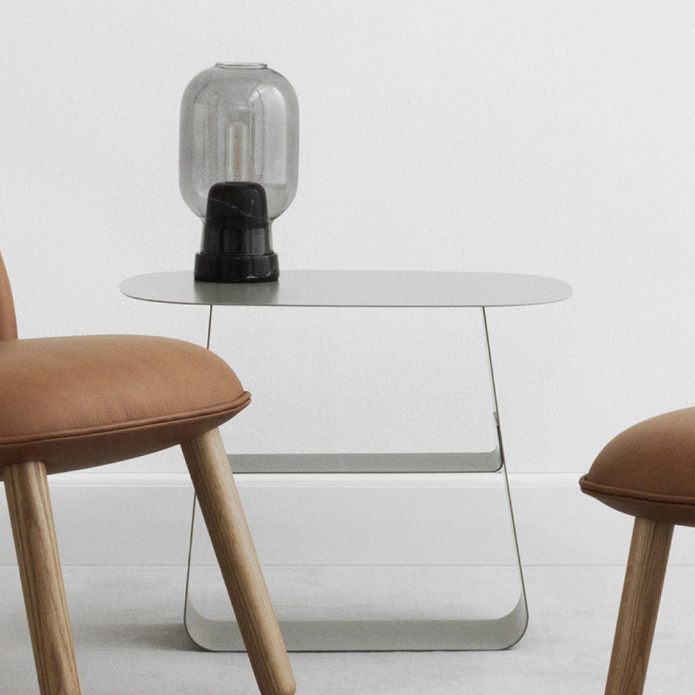 Amp t l mpara de mesa normann copenhagen de cristal y - Mesas de marmol y cristal ...
