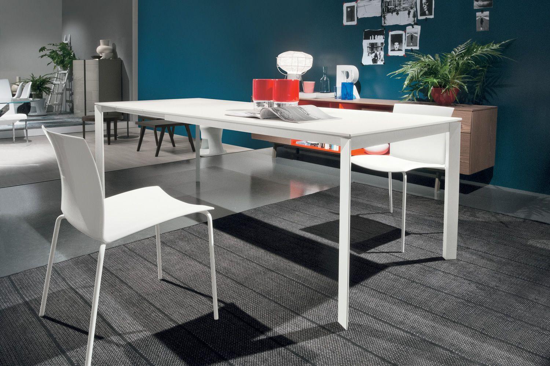 Dublino tavolo di design bontempi casa in metallo con for Tavolo di design in metallo
