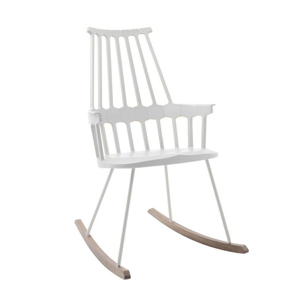 Comback 5956 - Sedia a dondolo Kartell di design, in legno e ...