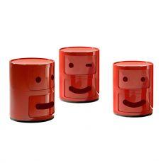 Componibili Smile - Contenitore Kartell di design, in ABS, con due ante scorrevoli, anche per esterno