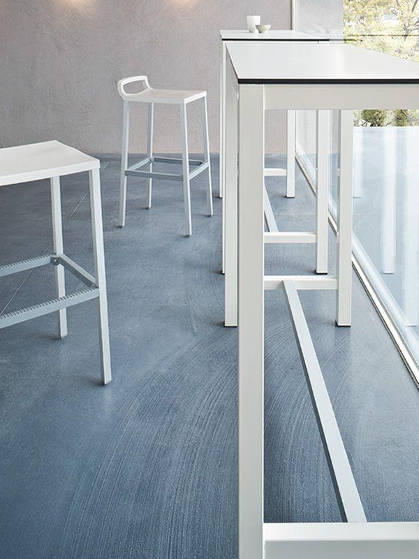 Banket - Tavolo alto per bar in bianco, dettaglio