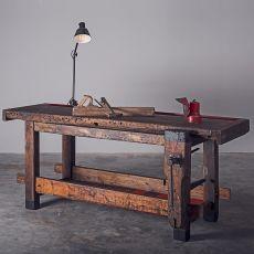 Workbench - Tavolo banco da falegname in legno, 180x80 cm